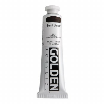 Golden Heavy Body Acrylics, 2 oz, Burnt Umber
