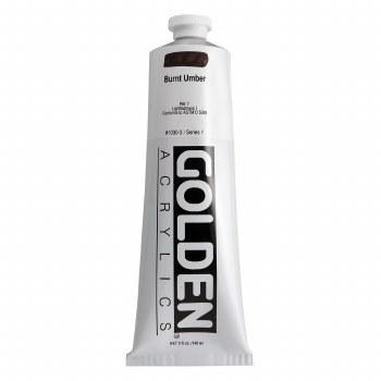 Golden Heavy Body Acrylics, 5 oz, Burnt Umber