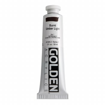 Golden Heavy Body Acrylics, 2 oz, Burnt Umber Light