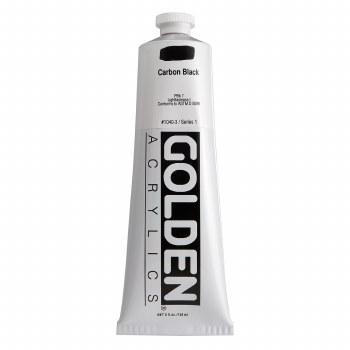 Golden Heavy Body Acrylics, 5 oz, Carbon Black