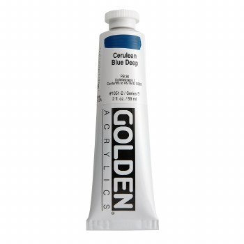 Golden Heavy Body Acrylics, 2 oz, Cerulean Blue Deep
