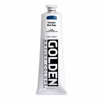 Golden Heavy Body Acrylics, 5 oz, Cerulean Blue Deep