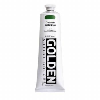 Golden Heavy Body Acrylics, 5 oz, Chromium Oxide Green
