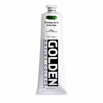 Golden Heavy Body Acrylics, 5 oz, Chromium Oxide Green Dark