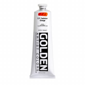 Golden Heavy Body Acrylics, 5 oz, Cadmium Orange