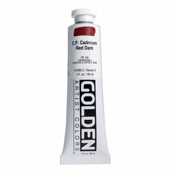 Golden Heavy Body Acrylics, 2 oz, Cadmium Red Dark