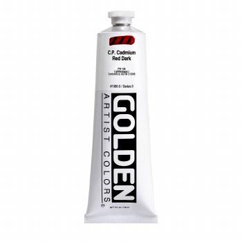 Golden Heavy Body Acrylics, 5 oz, Cadmium Red Dark