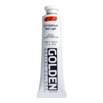 Golden Heavy Body Acrylics, 2 oz, Cadmium Red Light
