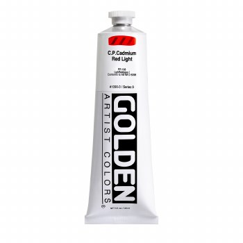 Golden Heavy Body Acrylics, 5 oz, Cadmium Red Light