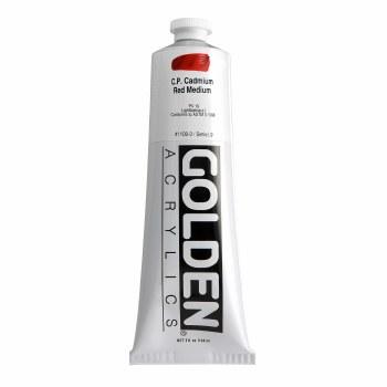 Golden Heavy Body Acrylics, 5 oz, Cadmium Red Medium