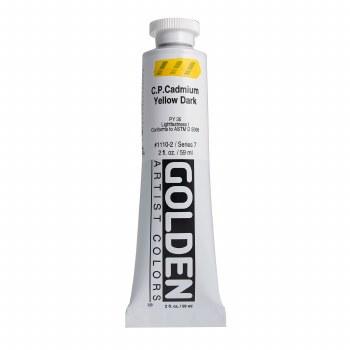 Golden Heavy Body Acrylics, 2 oz, Cadmium Yellow Dark