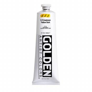Golden Heavy Body Acrylics, 5 oz, Cadmium Yellow Dark