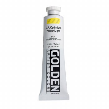 Golden Heavy Body Acrylics, 2 oz, Cadmium Yellow Light