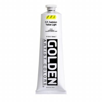 Golden Heavy Body Acrylics, 5 oz, Cadmium Yellow Light