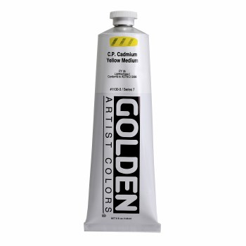 Golden Heavy Body Acrylics, 5 oz, Cadmium Yellow Medium