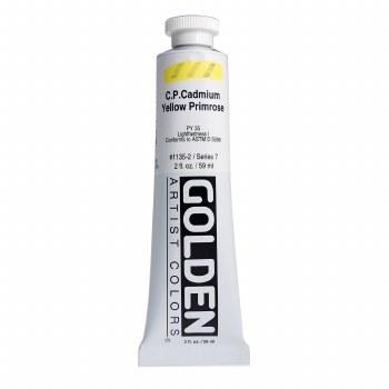 Golden Heavy Body Acrylics, 2 oz, Cadmium Yellow Primrose
