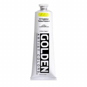 Golden Heavy Body Acrylics, 5 oz, Cadmium Yellow Primrose