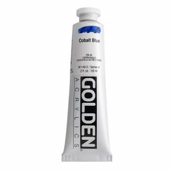 Golden Heavy Body Acrylics, 2 oz, Cobalt Blue
