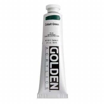 Golden Heavy Body Acrylics, 2 oz, Cobalt Green