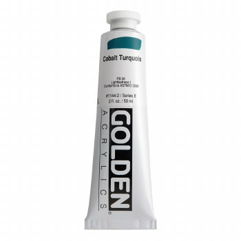 Golden Heavy Body Acrylics, 2 oz, Cobalt Turquoise