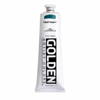Golden Heavy Body Acrylics, 5 oz, Cobalt Turquoise