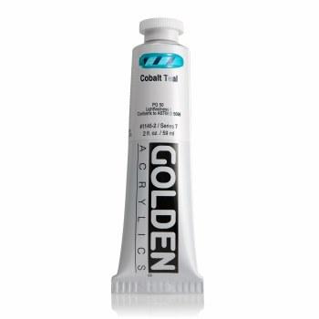 Golden Heavy Body Acrylics, 2 oz, Cobalt Teal