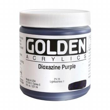Golden Heavy Body Acrylics, 8 oz Jars, Dioxazine Purple