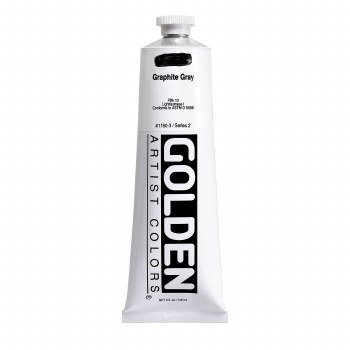 Golden Heavy Body Acrylics, 5 oz, Graphite Gray