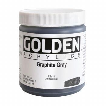 Golden Heavy Body Acrylics, 8 oz Jars, Graphite Gray