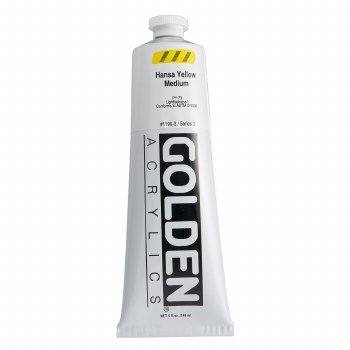 Golden Heavy Body Acrylics, 5 oz, Hansa Yellow Medium