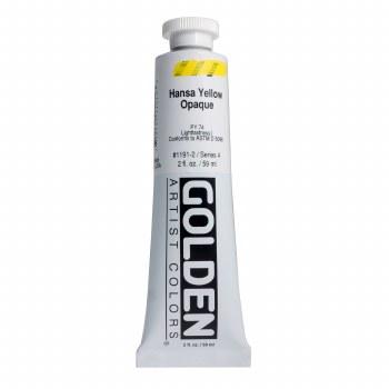Golden Heavy Body Acrylics, 2 oz, Hansa Yellow Opaque