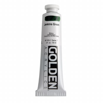 Golden Heavy Body Acrylics, 2 oz, Jenkins Green