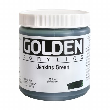 Golden Heavy Body Acrylics, 8 oz Jars, Jenkins Green