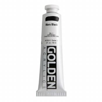 Golden Heavy Body Acrylics, 2 oz, Mars Black