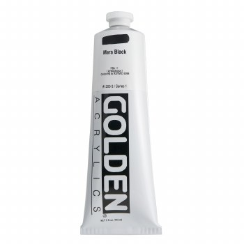 Golden Heavy Body Acrylics, 5 oz, Mars Black