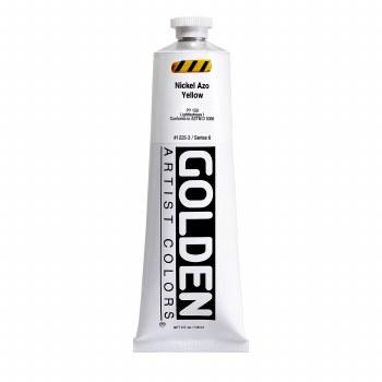 Golden Heavy Body Acrylics, 5 oz, Nickel Azo Yellow