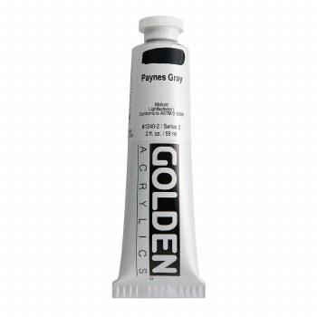 Golden Heavy Body Acrylics, 2 oz, Paynes Gray