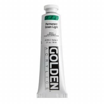 Golden Heavy Body Acrylics, 2 oz, Permanent Green Light