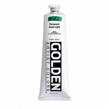 Golden Heavy Body Acrylics, 5 oz, Permanent Green Light