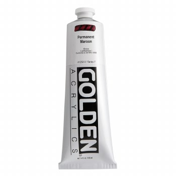 Golden Heavy Body Acrylics, 5 oz, Permanent Maroon