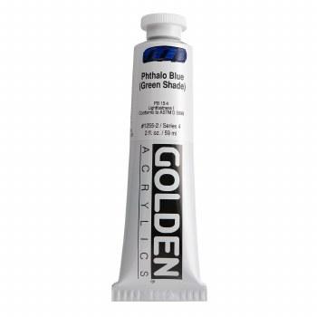 Golden Heavy Body Acrylics, 2 oz, Pthalo Blue/Green Shade