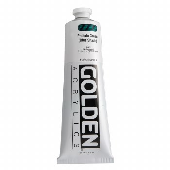 Golden Heavy Body Acrylics, 5 oz, Pthalo Green/Blue Shade