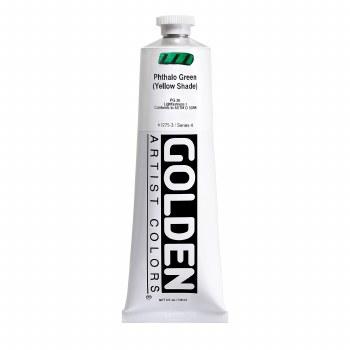 Golden Heavy Body Acrylics, 5 oz, Pthalo Green/Yellow Shade