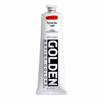 Golden Heavy Body Acrylics, 5 oz, Pyrrole Red Light