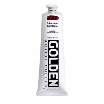 Golden Heavy Body Acrylics, 5 oz, Quinacridone Burnt Orange