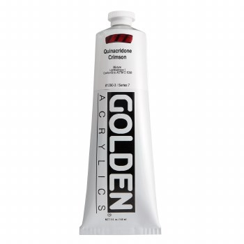 Golden Heavy Body Acrylics, 5 oz, Quinacridone Crimson