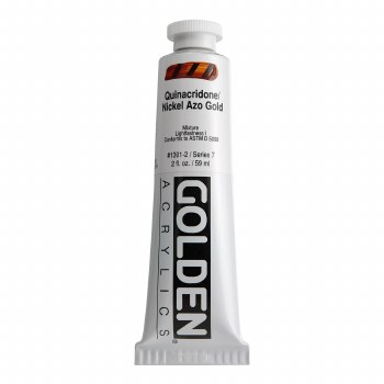 Golden Heavy Body Acrylics, 2 oz, Quinacridone/Nickel Azo Gold