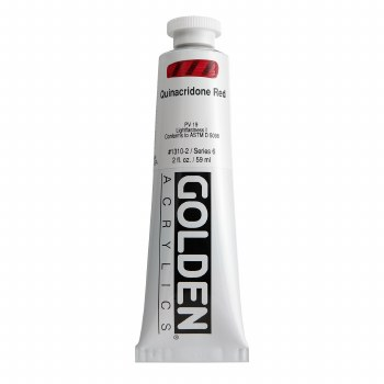 Golden Heavy Body Acrylics, 2 oz, Quinacridone Red