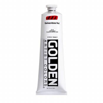 Golden Heavy Body Acrylics, 5 oz, Quinacridone Red