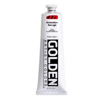 Golden Heavy Body Acrylics, 5 oz, Quinacridone Red Light